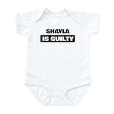 SHAYLA is guilty Infant Bodysuit