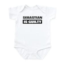 SEBASTIAN is guilty Infant Bodysuit