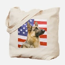 All American Military and Police K9 Tote Bag