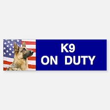 All American Military and Police K9 Bumper Bumper Sticker