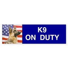 All American Military and Police K9 Bumper Sticker