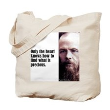 "Dostoevsky ""The Heart"" Tote Bag"