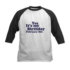February 8th Birthday Tee