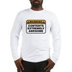 Contents Extremely Awesome Long Sleeve T-Shirt