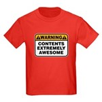Contents Extremely Awesome Kids Dark T-Shirt