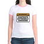 Contents Extremely Awesome Jr. Ringer T-Shirt