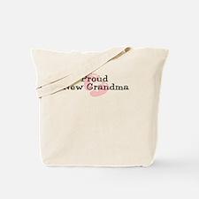 Proud New Grandma G Tote Bag