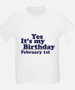 February 1st Birthday T-Shirt