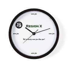 Region X Wall Clock