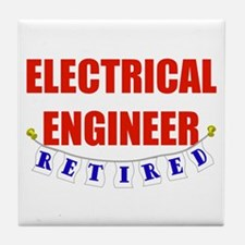 Retired Electrical Engineer Tile Coaster
