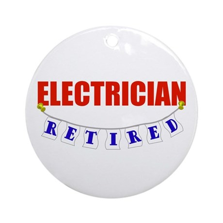 Retired Electrician Ornament (Round)