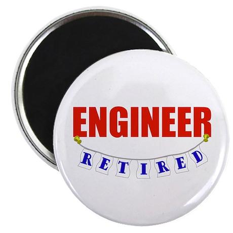 "Retired Engineer 2.25"" Magnet (10 pack)"