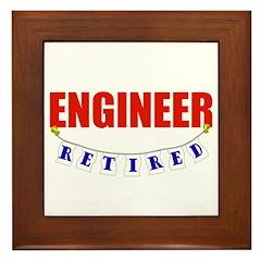 Retired Engineer Framed Tile