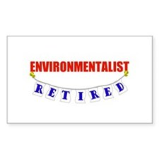 Retired Environmentalist Rectangle Decal