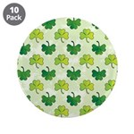 "Patterned Shamrock Art 3.5"" Button (10 pack)"