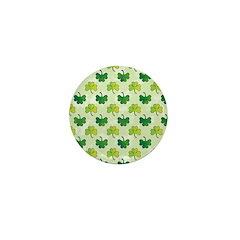 Patterned Shamrock Art Mini Button