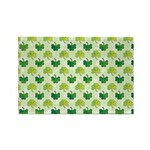 Patterned Shamrock Art Rectangle Magnet