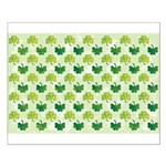 Patterned Shamrock Art Small Poster