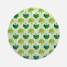 Patterned Shamrock Art Ornament (Round)
