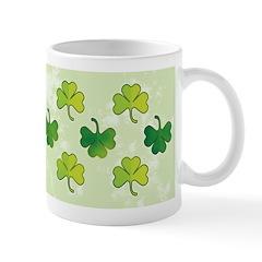 Patterned Shamrock Art Ceramic Coffee Mug