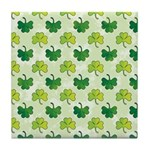 Patterned Shamrock Art Tile Drink Coaster