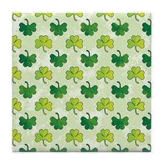 Patterned Shamrock Art Tile Drink Coaster