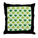 Patterned Shamrock Art Throw Pillow