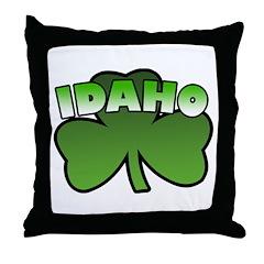 Idaho Shamrock Throw Pillow