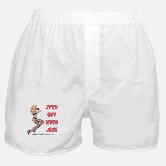 Jerk off with Jane w/Cartoon Boxer Shorts