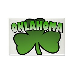 Oklahoma Shamrock Rectangle Magnet (10 pack)