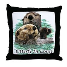 Otterly In Love Throw Pillow