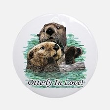 Otterly In Love Ornament (Round)