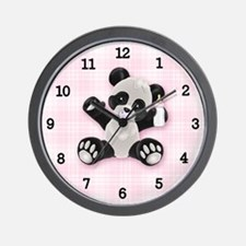 Baby Panda Girl (bg) Wall Clock
