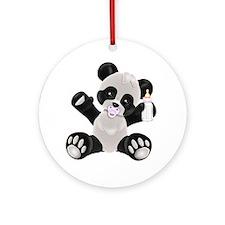 Baby Panda Girl Ornament (Round)