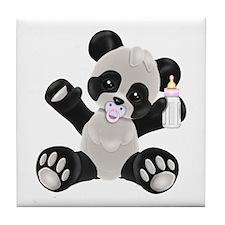 Baby Panda Girl Tile Coaster