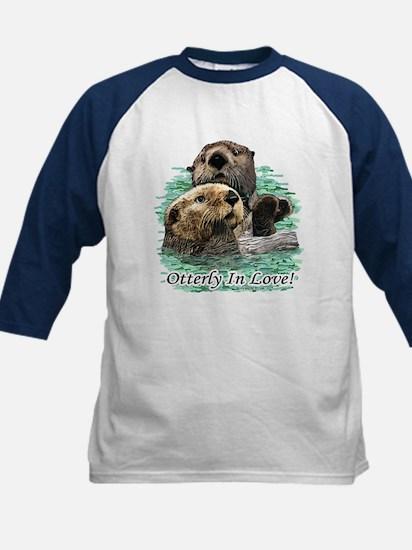 Otterly In Love Kids Baseball Jersey