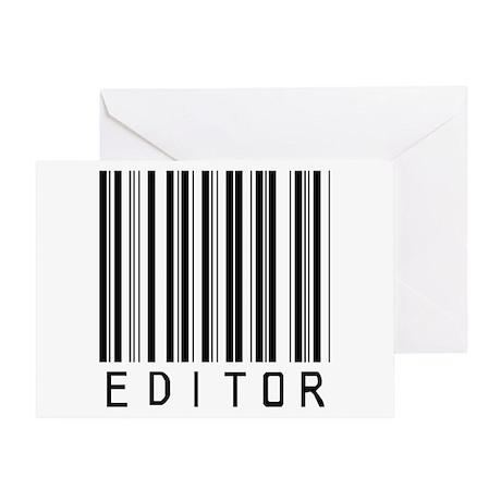 Editor Bar Code Greeting Card