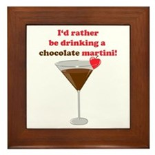 Chocolate Martini Framed Tile