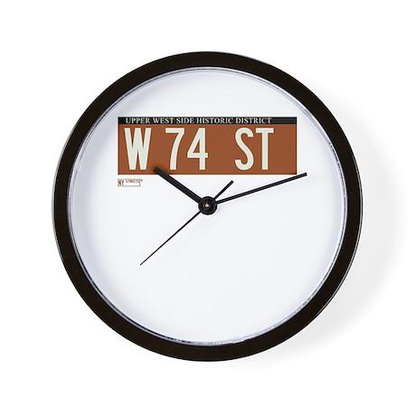 74th Street in NY Wall Clock
