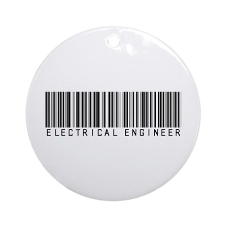 Electrical Engineer Bar Code Ornament (Round)