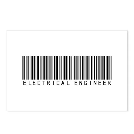 Electrical Engineer Bar Code Postcards (Package of