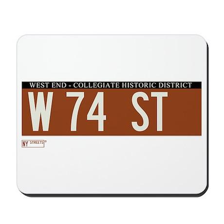 74th Street in NY Mousepad