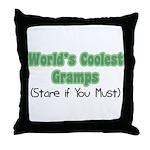 World's Coolest Gramps Throw Pillow