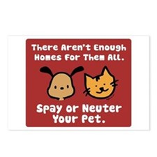 Too Few Homes Spay & Neuter Postcards (Package of
