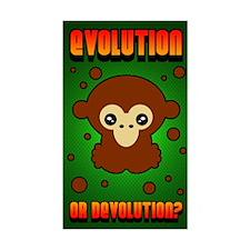 <b>EVOLUTION? MONKEY</b><br>Rectangular sticker
