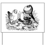 Pigeon Trio Yard Sign