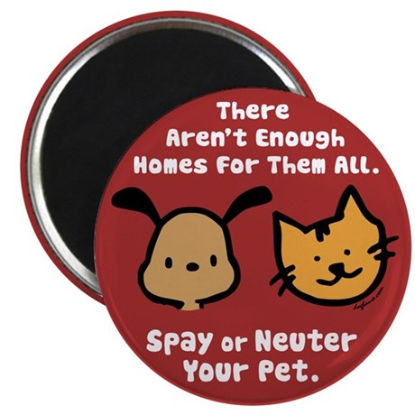 Too Few Homes Spay & Neuter Magnet