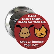 "Too Few Homes Spay & Neuter 2.25"" Button"