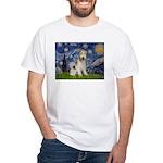 Starry / Fox Terrier (W) White T-Shirt