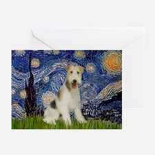 Starry / Fox Terrier (W) Greeting Cards (Pk of 10)